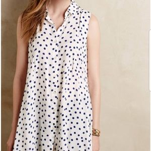 Tyhlo Percy Tunic in Blue Polk Dot